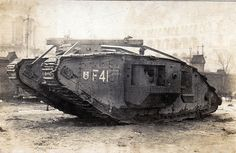 """Fray Bentos II"", not to be confused with it's more famous predecessor ""Fray Bentos I"" The British Mk IV male tank ""Fray Bentos II"" (8091) on display in Berlin after being captured at Cambrai in November 1917. Afterwards, it would be dismantled for mechanical inspection and study."
