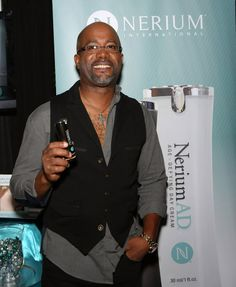 """Darius Rucker said his skin """"won't be like this for long"""" since he is trying NeriumAD!! Try it for yourself too!!! Contact me at: www.CarlaTG.nerium.com to make a purchase or to join my team!!!"""