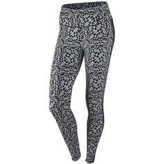 Nike Printed Dri-fit Leggings ($100) ❤ liked on Polyvore featuring pants, leggings, nike leggings, nike pants, dri fit pants and nike