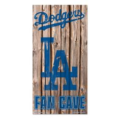 Los Angeles Dodgers MLB Fan Cave Retro Wood Sign (6in x12 in)