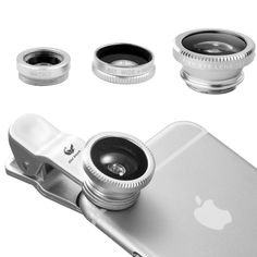 3 in 1 Clip-On 180 Degree Supreme Fisheye + 0.65X Wide Angle+ 10X Macro Lens For iPhone 6 / 6 Plus, iPhone 5 5S 4 4S Samsung