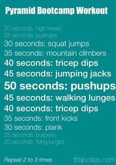 Pyramid Bootcamp Workout workouts
