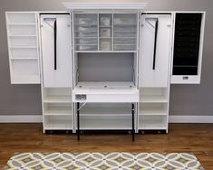 Craft Armoire, Craft Cupboard, Craft Cabinet, Sewing Cabinet, Fold Out Table, Compact Furniture, Sewing Station, Space Crafts, Craft Space