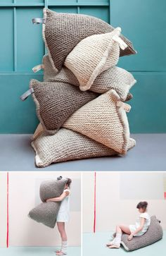 knitted bean bags!!!