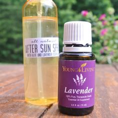 Our new favorite all natural, sunburn relief remedy - DIY After Sun Spray with Essential Oils! from One Project Closer