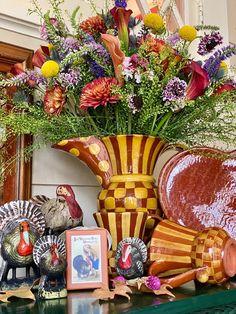Thanksgiving 2020, Thanksgiving Recipes, Peanut Cake, Pound Cake Glaze, Pheasant Run, Turkey Plates, Tom Turkey, Winter Table, Faux Bamboo