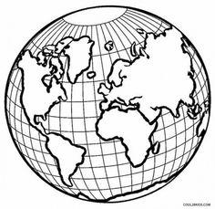 Ausmalbilder kostenlos globus 06 Decorating ideas Erde