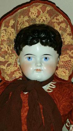 Alt Beck Gottschalk ABG China Head Doll Brush Stroked Hair, Exposed Ears