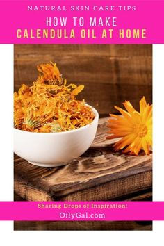 How to Make Calendula Oil At Home - OilyGal.com | The process for making Calendula Oil can be simple, it doesn't take long to make but you have to let the flowers steep for 6 weeks, shaking the jar throughout the time. Good things come to those that wait!