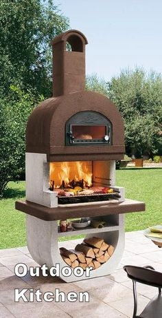 Pizza oven outdoor - wood Structure Section Living Rooms Pizza Oven Outdoor, Outdoor Cooking, Modern Outdoor Pizza Ovens, Outdoor Fire, Outdoor Living, Outdoor Decor, Outdoor Kitchen Design, Outdoor Kitchens, Luxury Kitchens