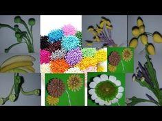 aprenda a fazer 9 tipos de pistilos para fazer flores - YouTube Biscuit, Youtube, Floral Swags, Flower Arrangements, Craft Flowers, Artificial Flowers, Painting Art, Kanzashi Flowers, Paper Art
