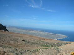 Blick von Lanzarote nach La Graciosa