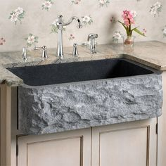 A-Z Home Decor Trend 2014: Farmhouse Sink - Alice T. Chan | San Francisco Bay Area Interior Renovation and Design Specialist. They are fabricated from different materials like this polished granite option.