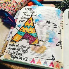 Bible Journaling by Christina Lowery @christinasalive | Psalm 90