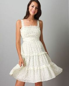 sundresses | ... and airy sundress. It's very fun and cute, as I love sundresses
