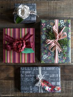 Chalkboard Gift Wrap Free Printables ~ the tags and gift wrap designs are amazing ~ Lia Griffith is sooooo talented!!!