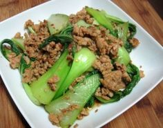 Chicken Sausage and Baby Bok Choy
