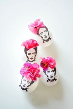 DIY Frida Kahlo Easter Eggs ^