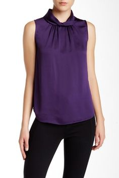 Twisted High Neck Blouse