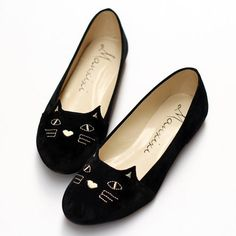 Cute cat flat shoes http://amzn.to/2k2HTMQ