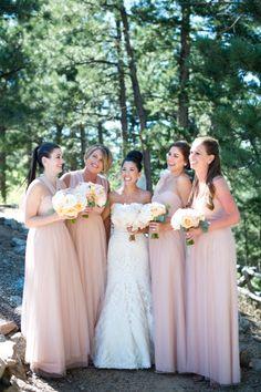 Beautiful dresses: http://www.stylemepretty.com/colorado-weddings/boulder/2015/04/02/rustic-meets-elegant-boulder-wedding/ | Photography: Brinton Studios - http://brintonstudios.com/