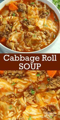 Roll Soup recipe with beef and chopped veggies is a delicious dinner rec. Cabbage Roll Soup recipe with beef and chopped veggies is a delicious dinner rec., Homemade baby foods,Cabbage Roll Soup recipe with beef and chopped veggies is a . Easy Soup Recipes, Delicious Dinner Recipes, Cooking Recipes, Healthy Recipes, Keto Recipes, Recipe For Soup, Healthy Crockpot Soup Recipes, Healthy Soups, Fall Recipes