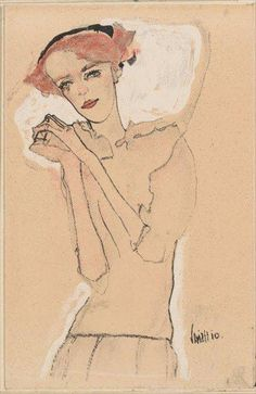 In 1907 Gustav Klimt also introduced Schiele to the Wiener Werkstätte, the arts and crafts workshop connected with the Secession. Gustav Klimt, Figure Drawing, Painting & Drawing, Alphonse Mucha, Art Moderne, Canvas Prints, Art Prints, Line Art, Art Drawings