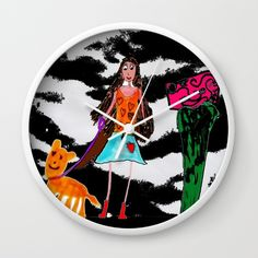 ME AND MY TIGER Wall Clock
