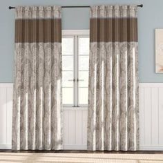 House of Hampton Scholten Solid Room Darkening 100% Cotton Pinch Pleat Curtains & Reviews | Wayfair
