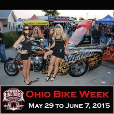 Jager girls and trike at the 2014 Ohio Bike Week  ------- OH Bike Week - 2015 Dates are May 29 to June 7  **More Pictures at http://blog.lightningcustoms.com/oh-bike-week-pics/  **VIP Tickets Still Available ohiobikeweek.com **OBW Info www.lightningcustoms.com/ohio-bike-week.html **VIDEOS www.lightningcustoms.com/ohio-bike-week-video.html  ‪#‎ohbikeweek‬‬‬‬‬