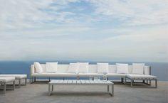 Coffee table / contemporary / polyethylene / aluminium - SALER by ...