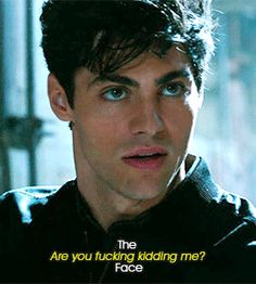 SHADOWHUNTERS CENTRAL — The many facial expressions of Alexander...
