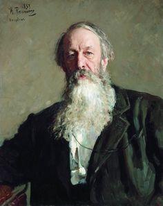 'Portret van de kunstcriticus Vladimir Stasov', 1883 / Ilja Repin (1844-1930) / Russisch Museum, St. Petersburg, Rusland.