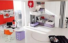 Teenage Bedroom Ideas... lofted bed