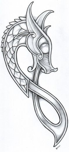 Thousands ideas which viking tattoo to choose and what is its meaning Getting a Viking tattoo, but why? No, rather, because their story is fascinating. The Vikings were an ethnic group from Scandina. Dragon Viking, Art Viking, Viking Dragon Tattoo, Celtic Dragon Tattoos, Tattoo Celtic, Viking Ship Tattoo, Ouroboros Tattoo, Viking Shield, Chinese Tattoo Designs