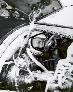Astronaut John H. Glenn, Jr., undergoes a simulated orbital flight as part of his training for Project Mercury in the Manned Spacecraft Center's procedure trainer at Langley Air Force Base, Virginia. (Great Images in NASA)