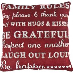 FAMILY RULES WOVEN CUSHION - Home & Furniture | Poundstretcher