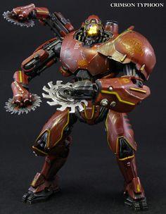 Custom made Crimson Typhoon brings Pacific Rim Jaeger to life. Pacific Rim Kaiju, Pacific Rim Jaeger, Big Robots, Cool Robots, King Kong, Godzilla, Gipsy Danger, Arte Robot, Robot Concept Art