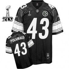 36fa71a7536 Steelers #43 Troy Polamalu Black Shadow Super Bowl XLV Stitched NFL Jersey