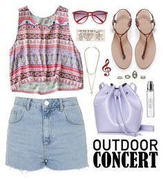"""""""Outdoor concert"""" by elly3 ❤ liked on Polyvore featuring Topshop, Rachael Ruddick, Zara, River Island, Givenchy and Byredo"""