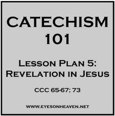 The First Of Many Free Lesson Plans Based On The Catechism Of The