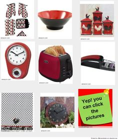 1000 images about black and red kitchen accessories and - Red kitchen decor accessories ...