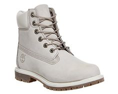 Timberland 6in Premium, Damen Stiefel , Weiß - Winter White Nubuck - Größe:  35.5
