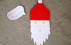 Un Babbo Natale di carta - Lavoretti - Piccolini Barilla