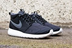 #Nike Roshe Run NM - Black Stitch #sneakers