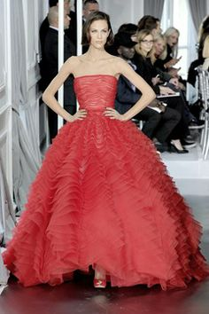 Christian Dior Mille-feuille raspberry tiers - Dior couture spring/summer 2012.