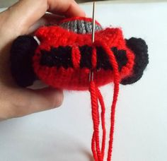 """Free Pattern Fridays – Knitted """"Ferrari"""" Sports Car! 