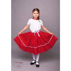 Kék ibolyám,Piros rózsám kollekció - Néptánc szoknya  fodros aljú- KATICA fazon www.lenviragmuhely.hu Ballet Skirt, Skirts, Fashion, Moda, Tutu, Fashion Styles, Skirt, Fashion Illustrations