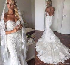 Off the Shoulder 2017 New Mermaid Wedding Dresses Backless Vintage Lace Dubai Court Train with Appliques Bridal Gowns Vestido De Novia