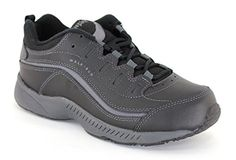 Easy Spirit Womens Romy Black Leather Athletics 95 CD US * More info could be found at the image url.